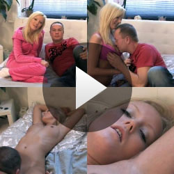Bella Blond vom Nachbar vernascht und durchgefickt